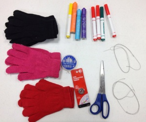 suppies for touchscreen glove project